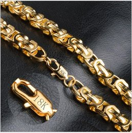 Wholesale Mens Figaro Chain Bracelet - 9mm 20inch 18K Gold Plated Figaro Chain Necklace Bracelet Fashion Arrogant Mens Gold Jewelry Accessories for Women