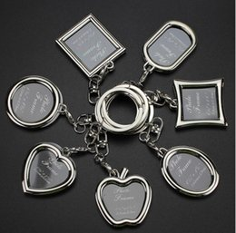 Wholesale Water Drop Frame - Hot sale Creative couple picture frame personality love key chain photo key ring customization KR013 Keychains mix order 20 pieces a lot