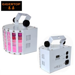 Wholesale White Green Motors - TIPTOP New Led Butterfly Stage Effect Light 30W RGBWA UV Rotating Electrical Motor 6x3W 6 Color Lamp DMX 6 Channels White Shell