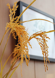 Wholesale Paddy Rice - 6 PCS Beautiful Artificial yellow paddy Rice plastic plant Home Decoration stage property Gift F318