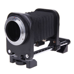 Wholesale Tube Extensions For Cameras - Macro Extension Bellows Tube Adapter Mount Extension Bellows for Nikon for Canon DSLR F Mount Focus Camera