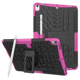 "Wholesale Tablet Hard Silicon Case - Hybrid Hard PC + TPU Case For Ipad Pro 10.5"" 2017 Version Tablet Camo Shockproof Tyre Tire Stand Football Colorful Kickstand Skin Cover 1pcs"