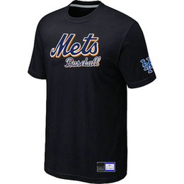 Wholesale Hot Pink Men S Shirts - Hot Sell New York Mets Baseball Short Sleeves T Shirts Big&Tall Logo Fashion Baseball Tees Shirt Cotton O-Neck T-shirt