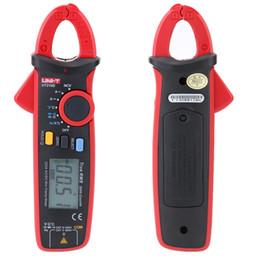 Wholesale clamp voltage meter - Freeshipping Digital Voltage Resistance Capacitance Clamp Meter Multimeter Temperature Measure multitester Auto Range multimetro