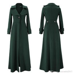 Wholesale Winter Green Wool Coat Women - 2017 Women Winter Coat Women Wool Blend Coat Oversize Long Outwear Wool Coat Cassic Woolen Maxi Outerwear Manteau