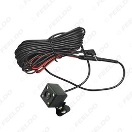 Wholesale Night Vision Car Rear - FEELDO Car 2.5mm Jack Port Video Port Rear View Camera With LED Night Vision For DVR Video Recorder #1829