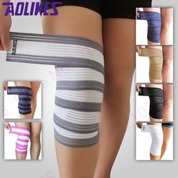 Wholesale Leg Compression Wrap - Cheap Body Building Bandage Training Belt Winding Tape Kneepad Bandage Mix Color Leg Compression Calf Support Wraps Unisex