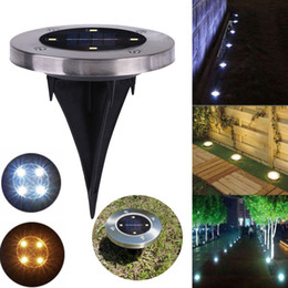 2017 parcours paysager Solar 4 LED Outdoor Path Light Spot Lampe Yard Garden Lawn Landscape IP65 Waterproof Yard Driveway Lawn Pathway Solar Light parcours paysager promotion
