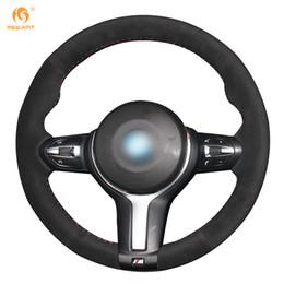 Wholesale M4 Car - Mewant Black Suede Car Steering Wheel Cover for BMW F33 428i 2015 F30 320d 328i 330i 2016 M3 M4 2014-2016