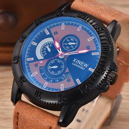 Wholesale Shock Luminous - Dropship Men's Luxury 5A Quality G Watch Leather Clock Army Sports Quartz Night Liminous Shock-prof Watch