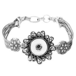 Wholesale Vintage Gold Bangle Bracelet Set - Wholesale-P00637 Hot wholesale Bracelet&Bangles Silver Plated Vintage Snap Button Bracelet For Women Fit 18mm Rivca Snap Button Jewelry