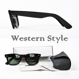 Wholesale Black Frames Glasses - Western style Top Quality Designer Sunglasses brands classic square UV400 Vintage Mens Sunglasses for Women with case and box