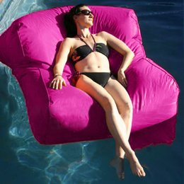 Wholesale Float Beanbag Pool Floating Bean Bag Outdoor Furniture Sofa Oversized Luxury Comfortably Accommodate Two Adults Cover Only No Filler