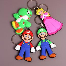 Wholesale Princess Cars - Hot Sale 8-9cm 4 Style Super Mario Yoshi Princess Mario Luigi PVC Action Figure Pendant Keychain