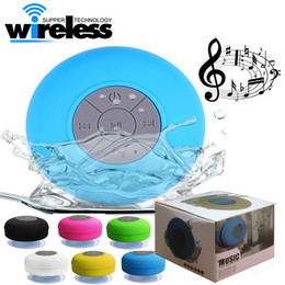 Wholesale Green Music - Portable Shower speaker Waterproof Wireless Bluetooth Speaker Car Subwoofer Handsfree Receive Call Music Suction Mic For iPhone Samsung
