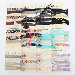 Wholesale Hand Accessories For Girls - Trendy Summer Elastic Women Hair Accessories Tassel Hairband Jewelry Hand Band For Girls 5PCS Lot Hair Tips Headwear Hair Bands
