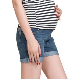 Wholesale Clothes For Pregnancy Women - Summer Denim Maternity Shorts For Pregnant Women Clothing Pregnancy Clothes Short Jeans Maternidade Pants Gravida New