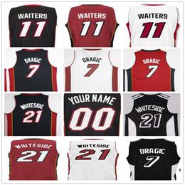 Wholesale 11 Style Xxl - 2017 Screen Printed Style 7 Goran Dragic 11 Dion Waiters Rodney McGruder Josh Richardson Tyler Johnson 21 Hassan Whiteside Basketball Jersey