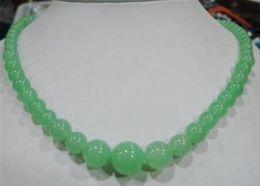 """Pierres de jade rondes en Ligne-6-14mm pierres précieuses véritables jade perles rondes collier de bijoux 18 """""""