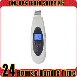Máquina de arrugas de mano online-Handheld Facial Scrubber Massager Ultrasonic LCD Digital Peeling Skin Eliminar arrugas Rejuvenecimiento de la piel Home Salon Use Beauty Machine