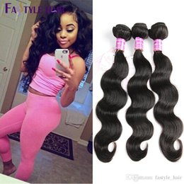 Wholesale High Quality Malaysian Virgin Hair - HOT2017!Fastyle Wholesale Indian Body Wave Brazilian Peruvian Malaysian Mink Virgin Human Hair Bundles 4pc lot Cheap High Quality