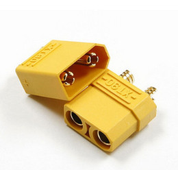 Wholesale Gold Plated Banana - Amass XT90 Battery Connector Set 4.5mm Male Female Gold Plated Banana Plug (2 pair) 4pcs   lot