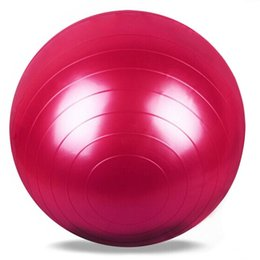 Wholesale 65cm Yoga Ball - Wholesale-65cm PVC Pilates Fitness Home Gym Equipment Accessories Yoga Fit Workout Fitness Ball For Sport Training Exercise Gymnastic