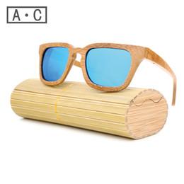 Wholesale Skateboard Wood Sunglasses - Wholesale-2016 TOP Brand Designer men wood Sunglasses New Polarized Blue Skateboard Wood sunGlasses Original Box Retro Vintage Eyewear