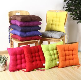 Wholesale Square Cotton Cushion Chair Seat Pad Soft Comfortable for Home Office Decor Colors