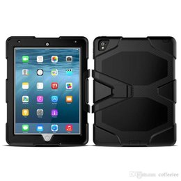 Wholesale Tablet Pc Gel Skin Cases - Hybrid GLF Silica gel + PC Shockproof Back Cover Stand Case for iPad Pro Mini1234 iPad 234 Air 2 Samsung Tab E Tablet