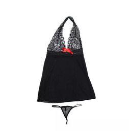 Set di corsetti online-Il corsetto sexy della biancheria delle donne con la stringa M-XXL della biancheria intima della biancheria intima della biancheria intima del vestito da G-stringa da 2 pezzi libera il trasporto