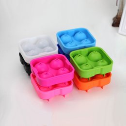 Wholesale Cube Holder - Hot New Arrival Bar Drink Whiskey Sphere Big Round Ball Ice Brick Cube Maker Tray Mold Mould 4 X 4.5cm Capacity Tool 50pcs (DY)