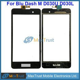 "Wholesale Wholesale Dash Touch Screen - Top Quality 5.0"" Screen For Blu Dash M D030U D030L Touch Screen Digitizer Front Panel Sensor Black White Color"