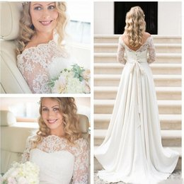 Wholesale Lace Long Sexy Dress Buy - Vintage Lace Sheer Wedding Dresses 2017 Vestido De Noiva Open Back A Line Custopm Made Bridal Gowns Free Shipping Buy From China