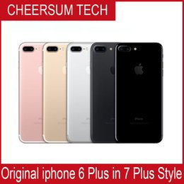 Wholesale Iphone Red Housing - Without fingerprint HOT 2018 iphone 6 in 7 style Mobilephone 4.7 5.5 inch 16GB 64GB 128GB iphone 6 refurbished in iphone 7 housing Cellphone