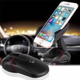 Wholesale Car Windshield Stand Phone - Innovative Universal Windshield Dashboard Mouse Car Phone Stand Holder for iphone 6 6s plus For LG G5 Samsung Galaxy S6 S7