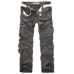 Wholesale Camo Cargo Capris - Wholesale-New Hot Men's Casual Army Cargo Camo Combat Style Pants Overall Loose Multi-Pocket Trend Men's Plus Size Casual Troursers