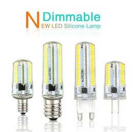 Lámpara led ba15d online-Luz LED G9 G4 Bombilla LED E11 E12 14 E17 G8 Lámparas regulables 110V 220V Bombillas de foco 3014 SMD 64152 Leds light Sillcone Body para candelabros