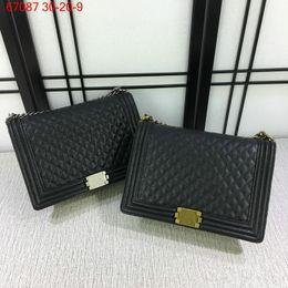 Wholesale Designer Lambskin Handbags - Free Shipping New Fashion Women Mummy Bag Women Bag Caviar Lambskin Handbags Designer Shoulder Bag 67087
