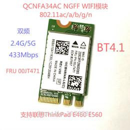 wifi atheros Скидка Оптово - драйвер для сетевой карты Atheros QCNFA34AC переменного тока модуль WiFi беспроводной 802.11 ac и блютуз 4.1 М. 2/карта для E560 ThinkPad в основном в e460
