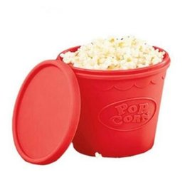 Wholesale Bowl Baking - Silicone Popcorn Bucket Microwave Pop corn Bowl Maker DIY Popcorn Baking Tool Popcorn Bucket CCA8144 20pcs