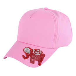 Wholesale 12 Year Old Girls Fashion - Wholesale- boy girl children beauty hat kids lovely baseball cap 54CM 3 to 12 year old child fashion snapback Elephant style cute hats