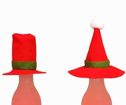 Wholesale Little People Christmas - The new Christmas 2017 selling Christmas ZhuangShiMao bottle decoration little hat