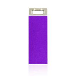 Wholesale Square Usb Drive - HanDisk Purpke matte Metal Square Head Drive 128MB 1 2 4 16 32 64 128gb Usb Flash Drive Portable USB Memory stick External Hard Drive EU033