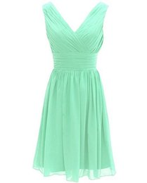 Wholesale Women S Size 16 Dress - Mint Green Cheap Short Bridesmaid Dresses Evening Wear Chiffon Prom Party Gown Women Cap Sleeve Lace Chiffon Cocktail Dress Under 50