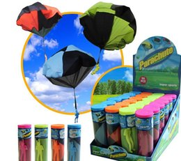 Wholesale Very Funny - 2017 new style Novelty and very funny children's hand throw parachute toy soldiers parachute outdoor toys to increase interest by DHL