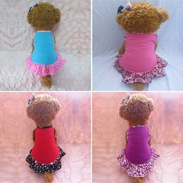 Wholesale clothes for dogs girl small - Puppy-Clothes Small Pet Dog Pet Small Dog Clothes for Girls Summer Love Hearts Dress Dog Clothes For Dogs Hot