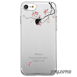Wholesale Magnolia Flowers - Shaka Laka red Magnolia flower Phone Clear shell health flowers Case For iPhone 6 6S 6plus  7 7plus 8 8s plus X Soft TPU silicone back Cover
