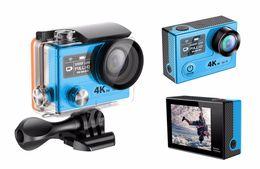 Wholesale Ambarella Dual - Origianl EKEN H8S Action Camera WiFi Real 4K 30FPS FHD Ambarella A12S75 Sport DV 2.4G remote controller Dual Color Screen