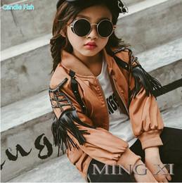 Wholesale United States Big - 2017 winter new children's jacket girl Europe and the United States big wind jacket tassel sleeve jacket
